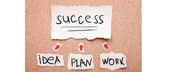 Plan for your success then work for it