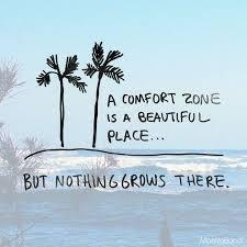 A comfort zone is a beautiful place but nothing grows there
