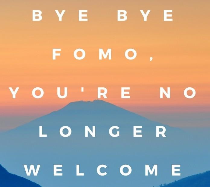 Dear FOMO, we are breaking up