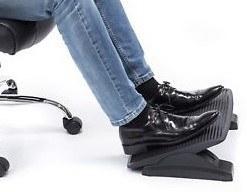 Mount-It! Foot Rest For Office Under Desk Cushion Bar Adjustable Stool Pedal