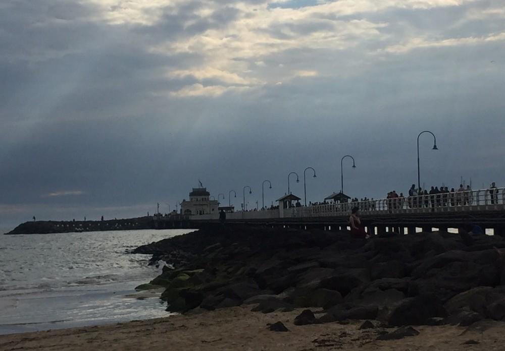 St Kilda beach at dusk