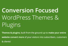 Thrive conversion focused themes and plugins