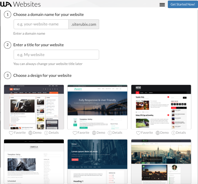 Simple steps to setting up a website