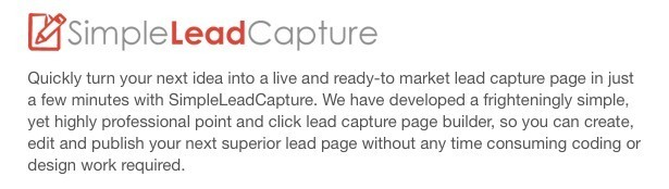 Six Figure Mentors tool: Simple Lead Capture