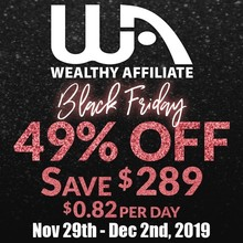 Wealthy Affiliate Black Friday Special 2019