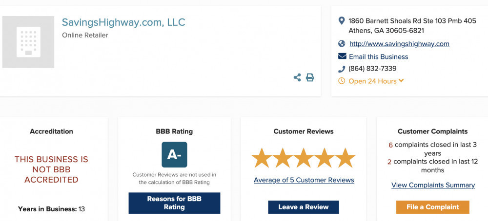 My 20 Dollar Travel Business BBB Rating